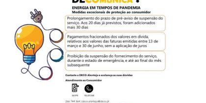Recomendações da DECO. Energia em tempos de pandemia