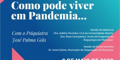 """Sessão Online: """"Como pode viver em Pandemia…"""" com o psiquiatra José Palma Góis"""
