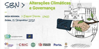 """Mesa Redonda """"Soluções Baseadas na Natureza: Alterações Climáticas e Governança"""""""