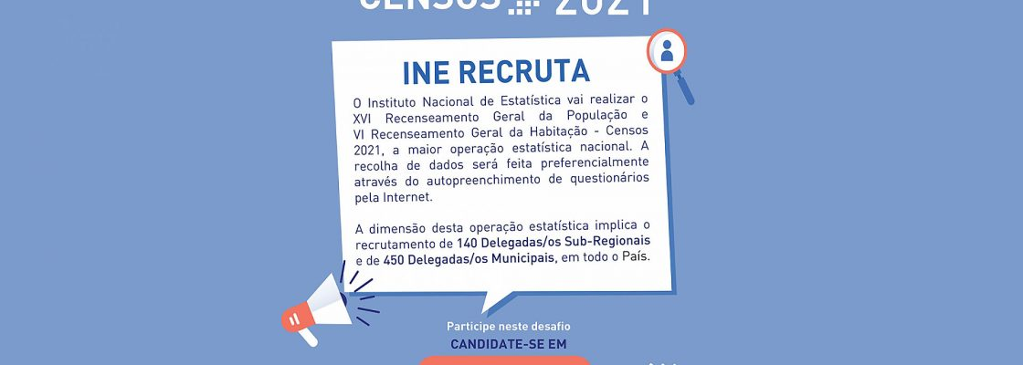 Censos 2021: INE recruta