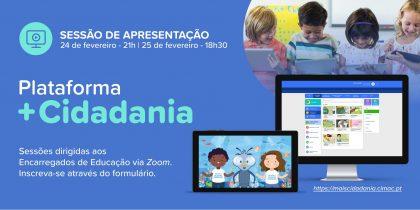 Plataforma +Cidadania – Sessão de apresentação