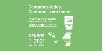 Censos 2021 – Contamos todos. Contamos com todos.