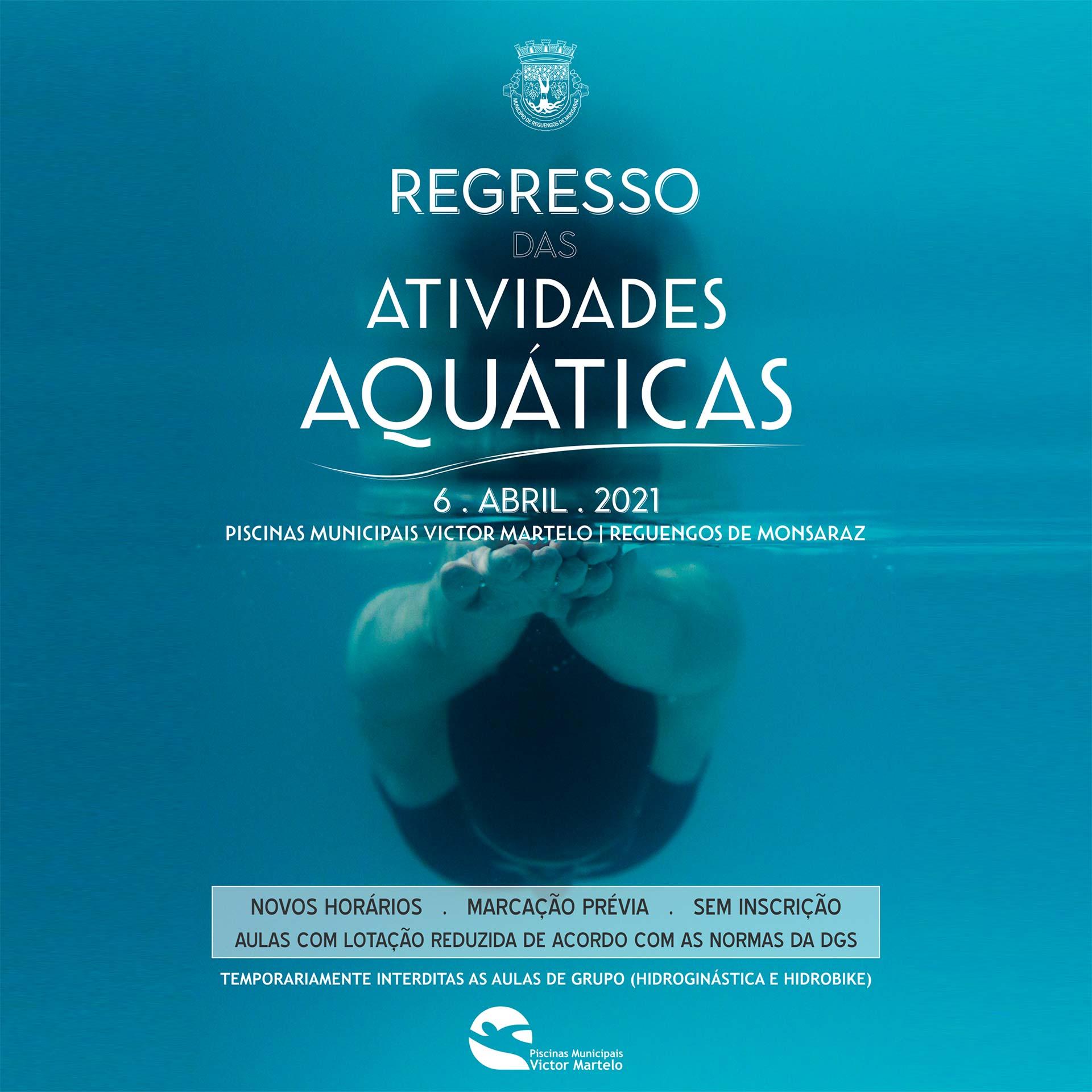 Piscinas Municipais: Regresso das atividades aquáticas a 6 de abril