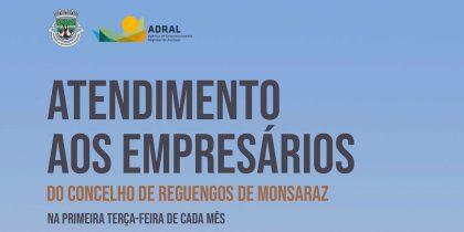 Atendimento aos empresários do Concelho de Reguengos de Monsaraz