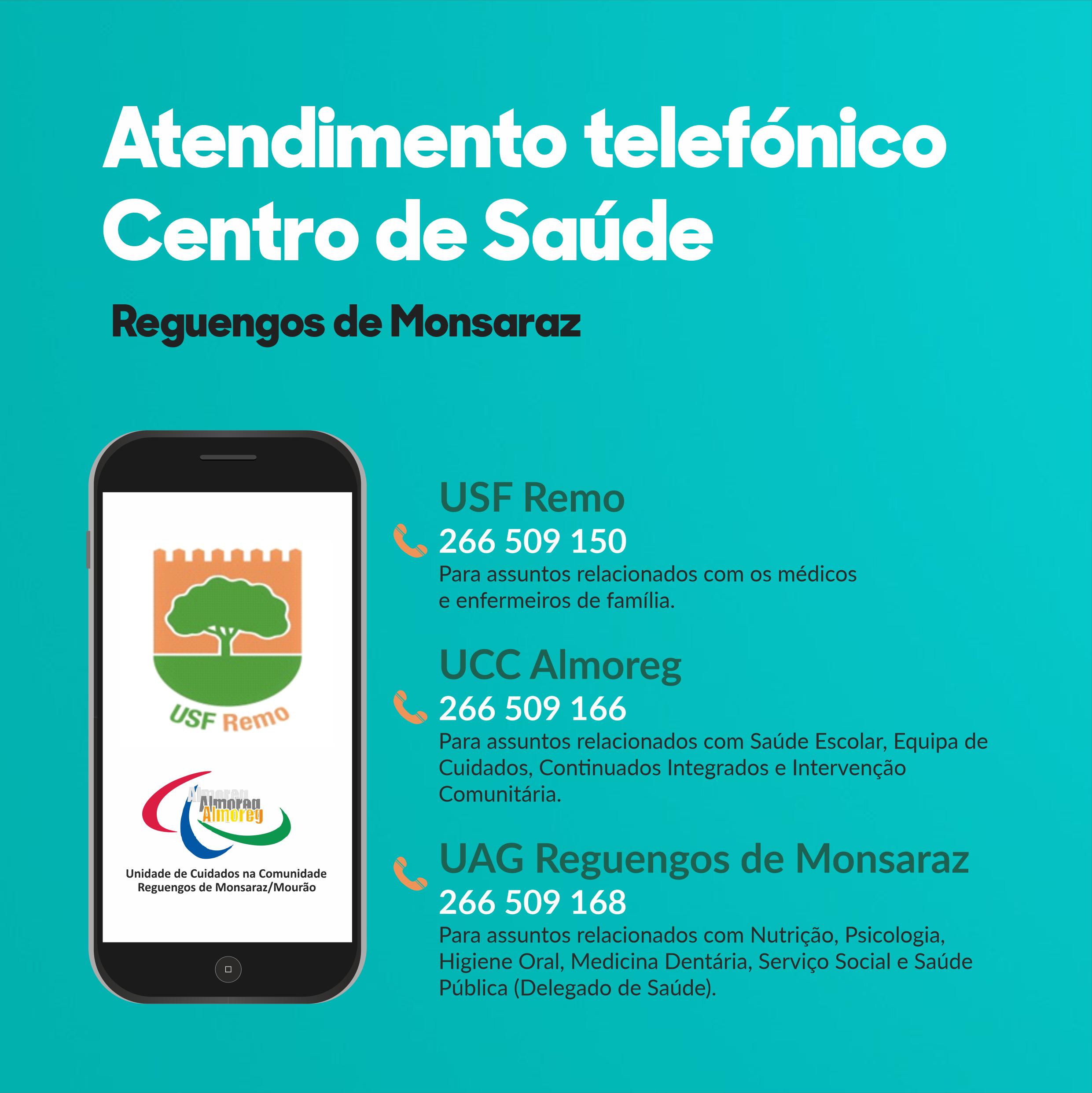 Atendimento telefónico no Centro de Saúde